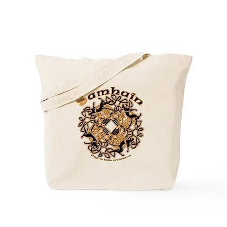 Samhain II Celtic Zoomorphic Knotwork Tote Bag