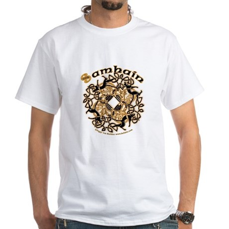 Samhain II Celtic Design T-Shirt - White