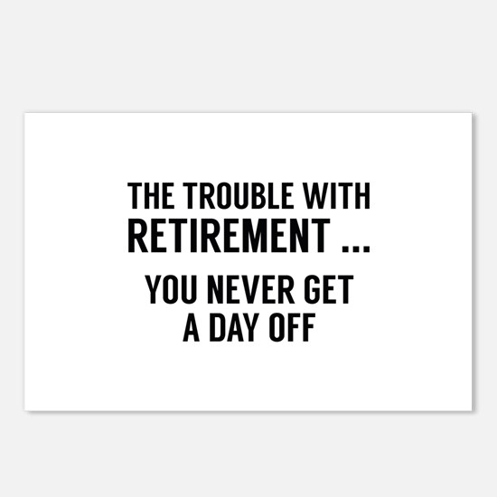 The Trouble With Retirement Postcards (Package of