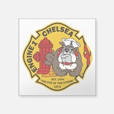 "Chelsea Engine 1 Square Sticker 3"" x 3"""