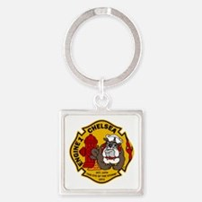 Chelsea Engine 1 Square Keychain