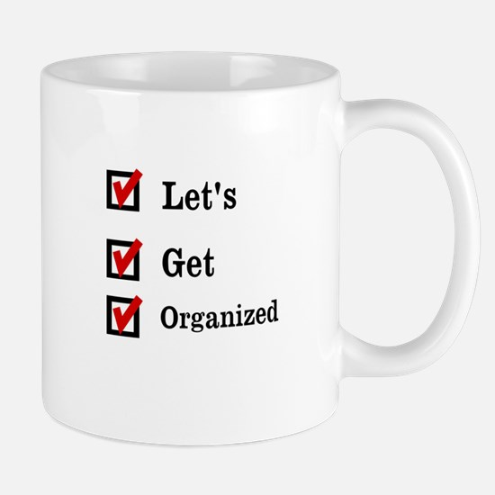 Get Organized Month Mugs