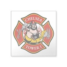 "Chelsea Tower 1 Square Sticker 3"" x 3"""