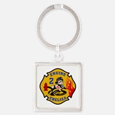 Chelsea Engine 2 Square Keychain