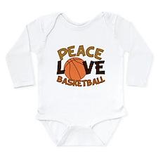 Love Basketball Long Sleeve Infant Bodysuit