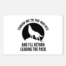Throw Me To The Wolves Postcards (Package of 8)