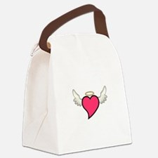 Winged Heart Canvas Lunch Bag