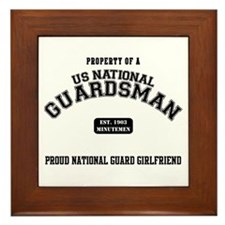 Proud National Guard GF Framed Tile