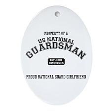 Proud National Guard GF Oval Ornament