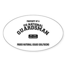 Proud National Guard GF Oval Decal