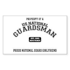 Proud National Guard GF Rectangle Decal