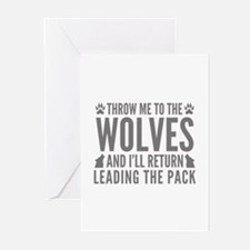 Throw Me To The Wolves Greeting Cards (Pk of 20)