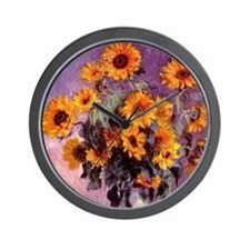 Sunflowers by Monet Wall Clock