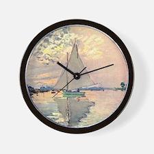 Sailing Ship by Monet Wall Clock
