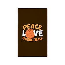 Love Basketball Area Rug