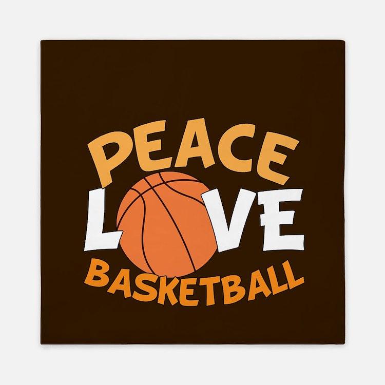 Love Basketball Queen Duvet