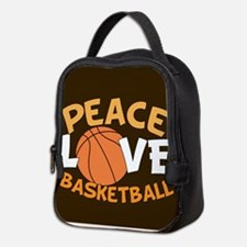 Love Basketball Neoprene Lunch Bag