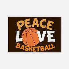 Love Basketball Rectangle Magnet