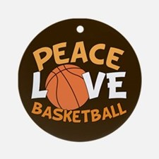 Love Basketball Ornament (Round)