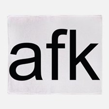 A.F.K. Throw Blanket