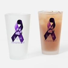 Lupus Awareness Drinking Glass
