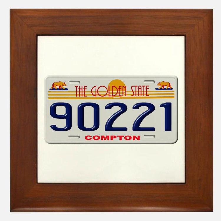Cute California license Framed Tile