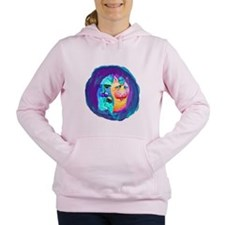 Cat and Mouse colorful Cat design Women's Hooded S