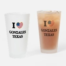 I love Gonzales Texas Drinking Glass
