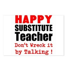 Happy Substitute Teacher Dont Wreck it by Talking