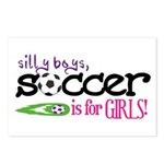 Soccer Is For Girls - Postcards (Package of 8)