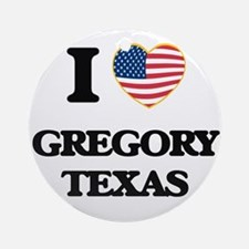 I love Gregory Texas Ornament (Round)