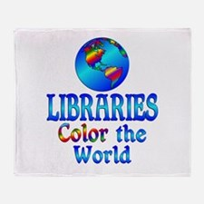 Libraries Color the World Throw Blanket