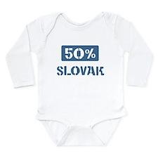 Cute Slovak Long Sleeve Infant Bodysuit