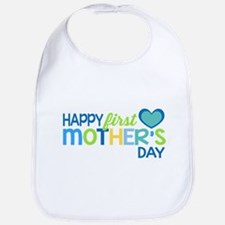 Happy First Mother's Day Boy Bib