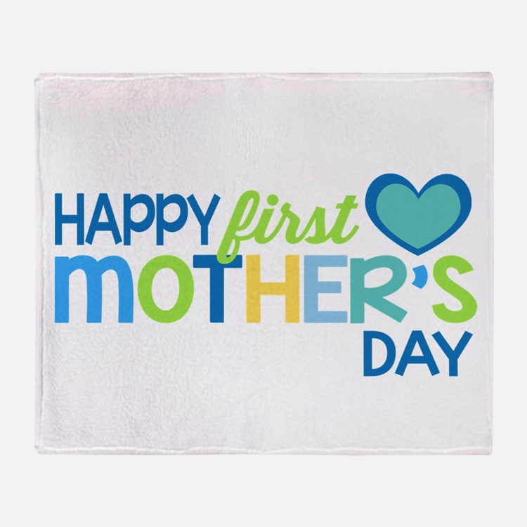 Happy First Mother's Day Boy Throw Blanket
