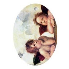 Chubby Cherubs Oval Ornament