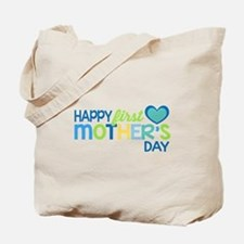 Happy First Mother's Day Boy Tote Bag