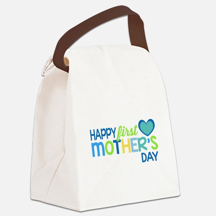 Happy First Mother's Day Boy Canvas Lunch Bag