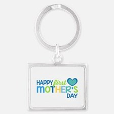 Happy First Mother's Day Boy Keychains