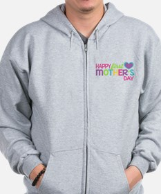 Happy First Mother's Day Girls Zip Hoodie