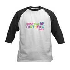 Happy First Mother's Day Girls Baseball Jersey