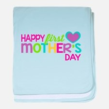 Happy First Mother's Day Girls baby blanket