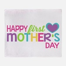 Happy First Mother's Day Girls Throw Blanket