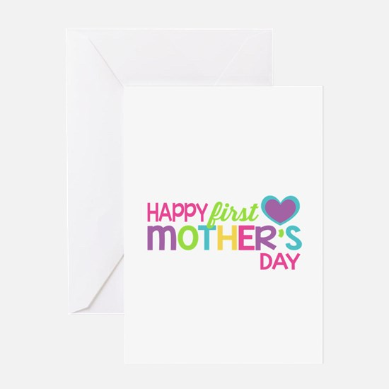 Happy First Mother's Day Girls Greeting Cards