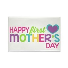 Happy First Mother's Day Girls Magnets