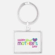Happy First Mother's Day Girls Keychains