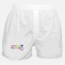 Happy First Mother's Day Girls Boxer Shorts