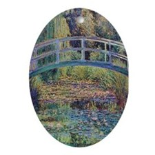 Water Lily Pond by Monet Oval Ornament
