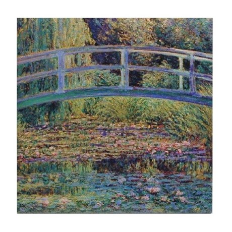 Water Lily Pond by Monet Tile Coaster