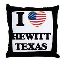 I love Hewitt Texas Throw Pillow